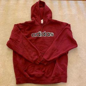 Adidas maroon hoodie men's size 2xl